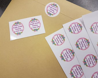Packaging labels and stickers, thank you stickers, handmade with love stickers, business labels, returns label, stickers