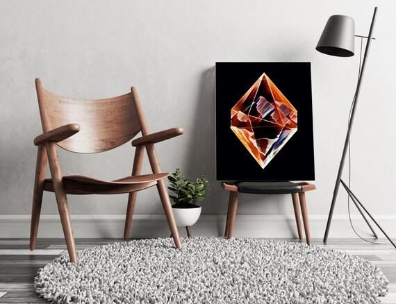 DIAMOND MOUNTAINS  | artwork | art prints | canvas art | framed art | art posters | watercolor art | giclee prints | wall art | ZuskaArt