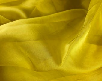 "100% Silk Chiffon 44""w Yellow"