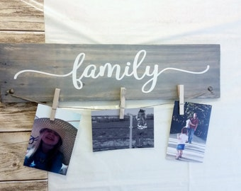 Hand Painted Family Picture Hanger