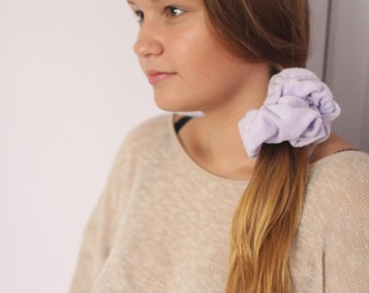 Beauty Routine Lavender Terrycloth Scrunchie