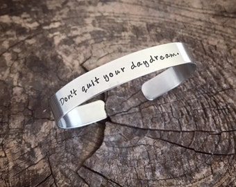 Stainless steel jewelry handstamped Cuff bracelet