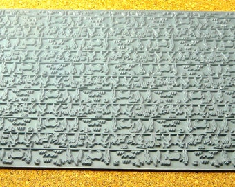 Mega ANCIENT HUNT  Rubber Clay Texturinzing Stamp  MGT-401