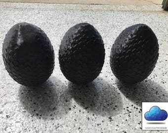 Game of Thrones Style Dragon Egg - 3D Printed! Hand made.