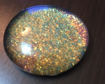 Gold and green Galaxy stone