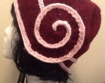 Pink and Burgundy Swirl Hat