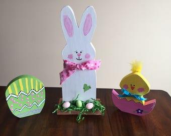 Easter bunny / chick / egg set