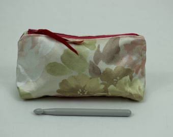 Ditty Bag, Zippered, Cream and Beige