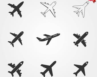 Airplan icon, Airplane, travel icons, airport icon, plane icon, airplane logo, airplane vector, flight icon