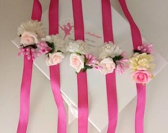 Flower bridesmaid bracelet