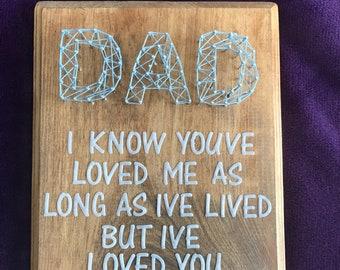 CUSTOMIZABLE Dad String Art