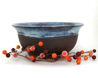 Serving Bowl - 40 ounce - Bare Bottom Bowl - Ceramic Bowl - Decorative Bowl -  Hand Thrown Stoneware Pottery - Ready to Ship