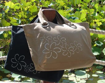 Tahitian shopper bag / tiara, canvas