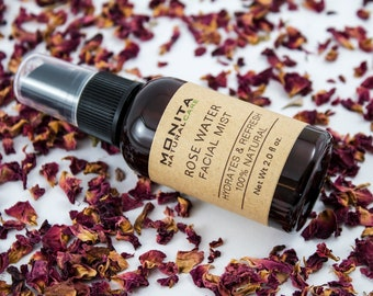 Rose Water Facial Mist, Facial Products, Organic Rose Water, Hydrating Mist, Refreshing Toner, Natural Skin Care, Face Mist, Face Toner