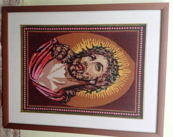 Embroidery icon,  image of Jesus son of God