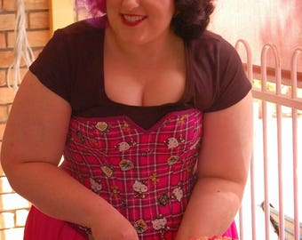 Hello Kitty Tartan and Silk Fashion Corset