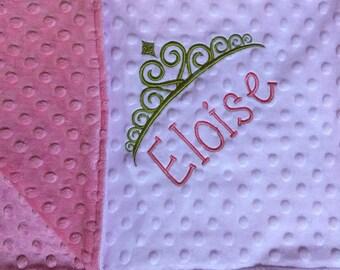 Princess Baby Blanket Crown Blanket Crown Baby Blanket Princess Nursery Crown Nursery Princess Baby Things Personalized Princess Blanket