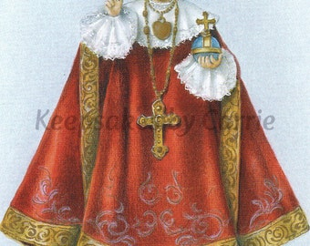 Infant of Prague - Sheet of 8 - Laminated