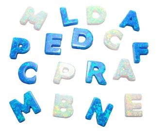 Initial Opal letter Monogram Charm Pendant. Initial charm Opal Initial Letter Charm. Personalized Charm Jewelry Making. SALE