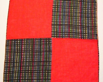 Vintage Red & Multicolored Hankie