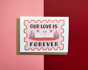 Unsere Liebe ist für immer Stempel - Karte, Freund, Liebe, Romantik