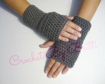 Solid Fingerless Gloves / Basic Wristers / Handmade by Britti