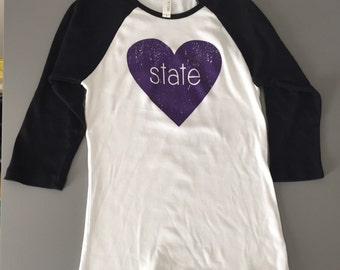 K-State Heart Raglan
