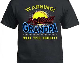 Father's Day, Father's Day Tshirt, Softball Grandpa, Softball Grandpa Voice Shirt, Grandpa's Gift, Gift For Grandpa. Father's Day Gift