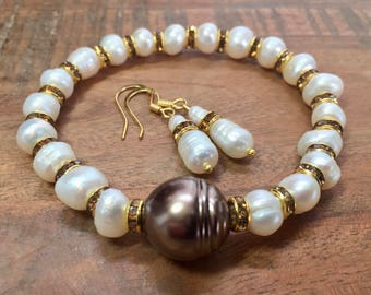 Pearl Jewelry Set/Freshwater Pearls/Gift for Woman/Gift/Gift for Her/Wedding/Anniversary