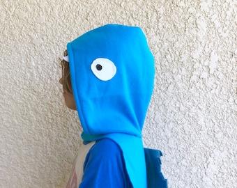 Blue Eel Cape, Electric Eel Cape, Halloween Costume or Dress Up Cape