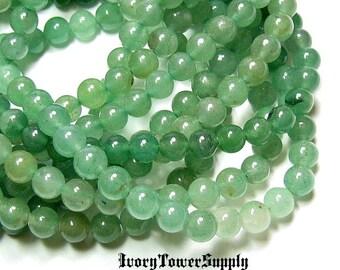 1 Strand 6mm Green Aventurine Beads, Natural Stone Beads, Green Beads, Semi Precious Beads, Gemstone Beads, Round beads