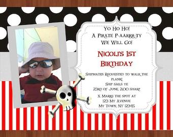Pirate Party digital invitation