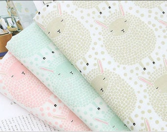 Double Gauze Lamb Sheep Patterned Fabric made in Korea by the Yard