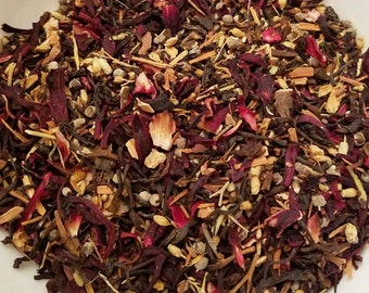 Snow White - Disney Inspired, Girl Power, Loose Leaf, Herbal Tea, Darjeeling, Catuaba, Cramp Bark, Hibiscus, Vitex Chaste