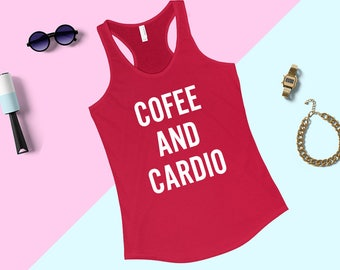Carbs and Cardio, Muscle Tank Top, Fitness Tank Top, Workout Tank,  Women's Flowy Muscle Tee, Yoga Tank Top, Workout Tank Top