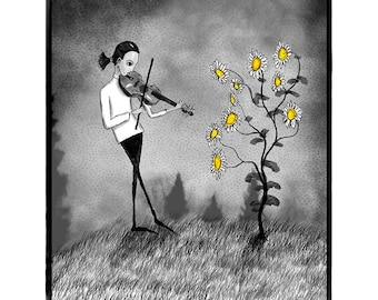 SERENADING THE SUNFLOWER, 11x14 Limited Edition Print