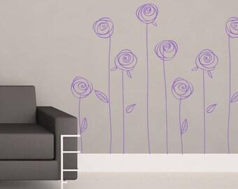 Stencil Roses (084x)