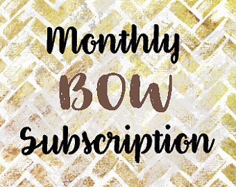 1 year Monthly Bow Subscription - Ships on the 20th of each Month