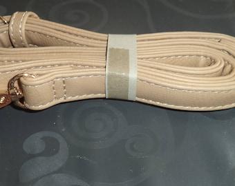bag handle beige faux leather handbag