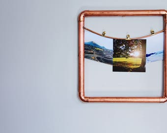 Copper frame, industrial frame, 7th anniversary, copper photo frame, copper picture frame,