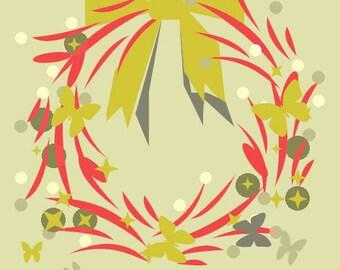 printed tissue pattern wreath creation