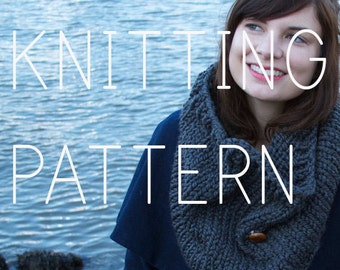 Simple Cowl Knitting Pattern Cowl - Easy Beginner - Digital Download