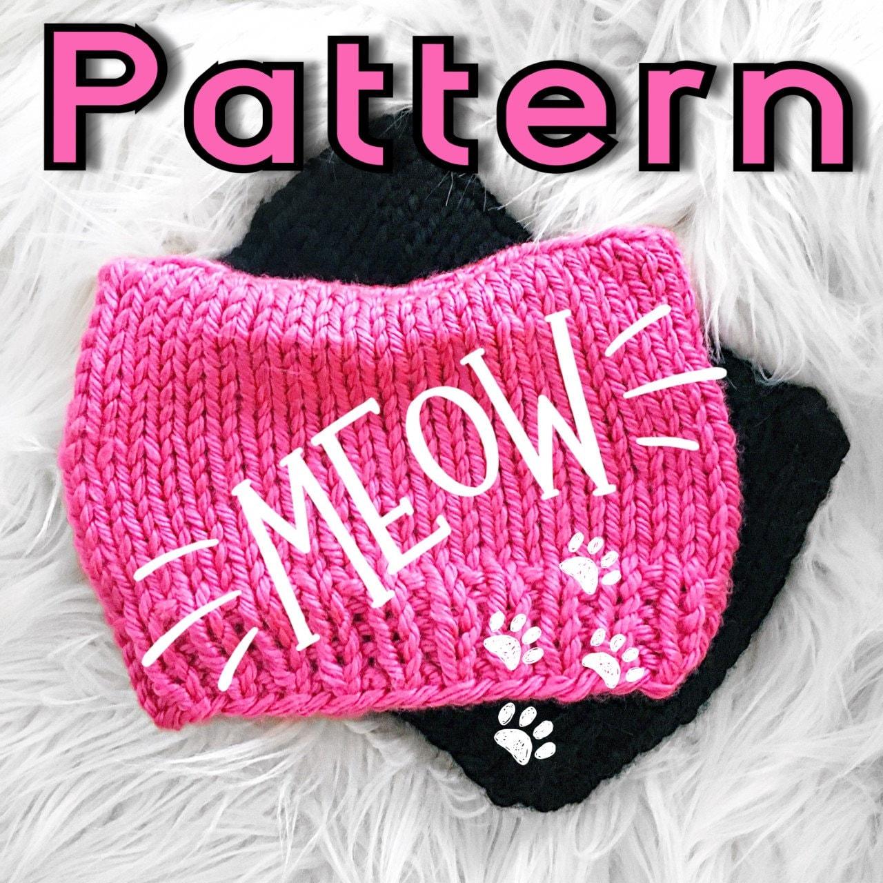 Knitting pattern cat beanie pattern cat hat pattern easy knit knitting pattern cat beanie pattern cat hat pattern easy knit pattern beginner knit pattern pdf easy knitting pattern tutorial dt1010fo