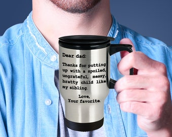 Fathers Day Gift, Fathers Day Travel Mug, Fathers Day Travel Gift, Fathers Day Travel coffee mug, Dad Gift, Dad gift from Daughter, From Son