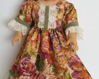 American Girl or 18 Inch Doll Historical 1800's Dress