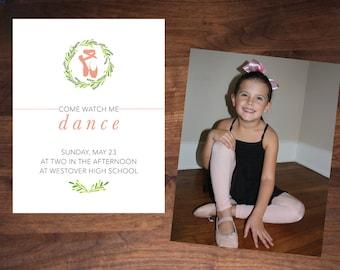 Ballet Recital Invitation, Large Photo