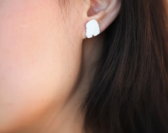 Blanche, porcelain earrings. Porcelain jewelry