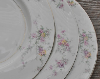 6 Theodore Haviland New York, Gloria Dinner Plates for Wedding, Bridal Shower, Afternoon Tea, Replacement, Luncheon, Mismatched, Shabby Chic