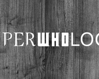 SuperWhoLock Decal Supernatural, Doctor Who, and Sherlock