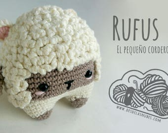 Rufus, Amigurumi sheep made with the pattern of the Lyla